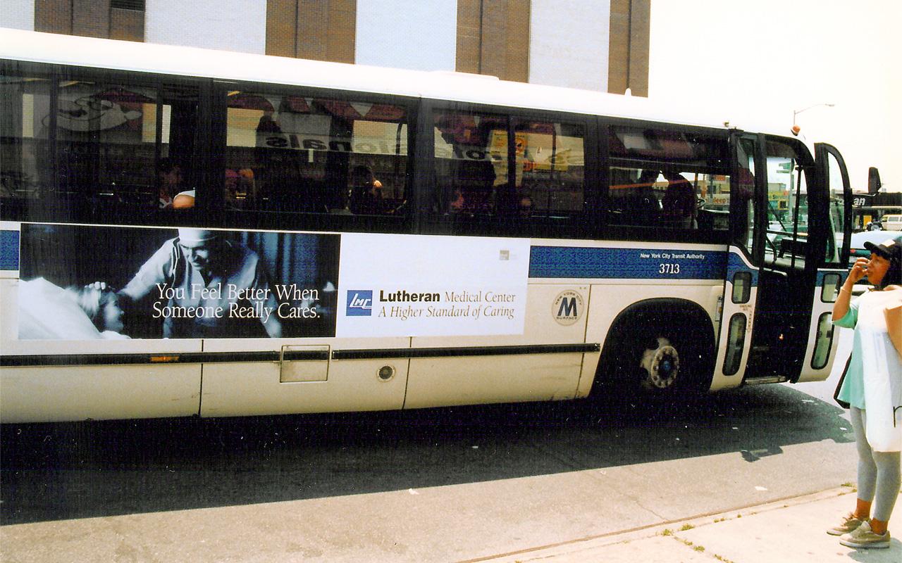 Lutheran Medical Center Bus Panel Ad
