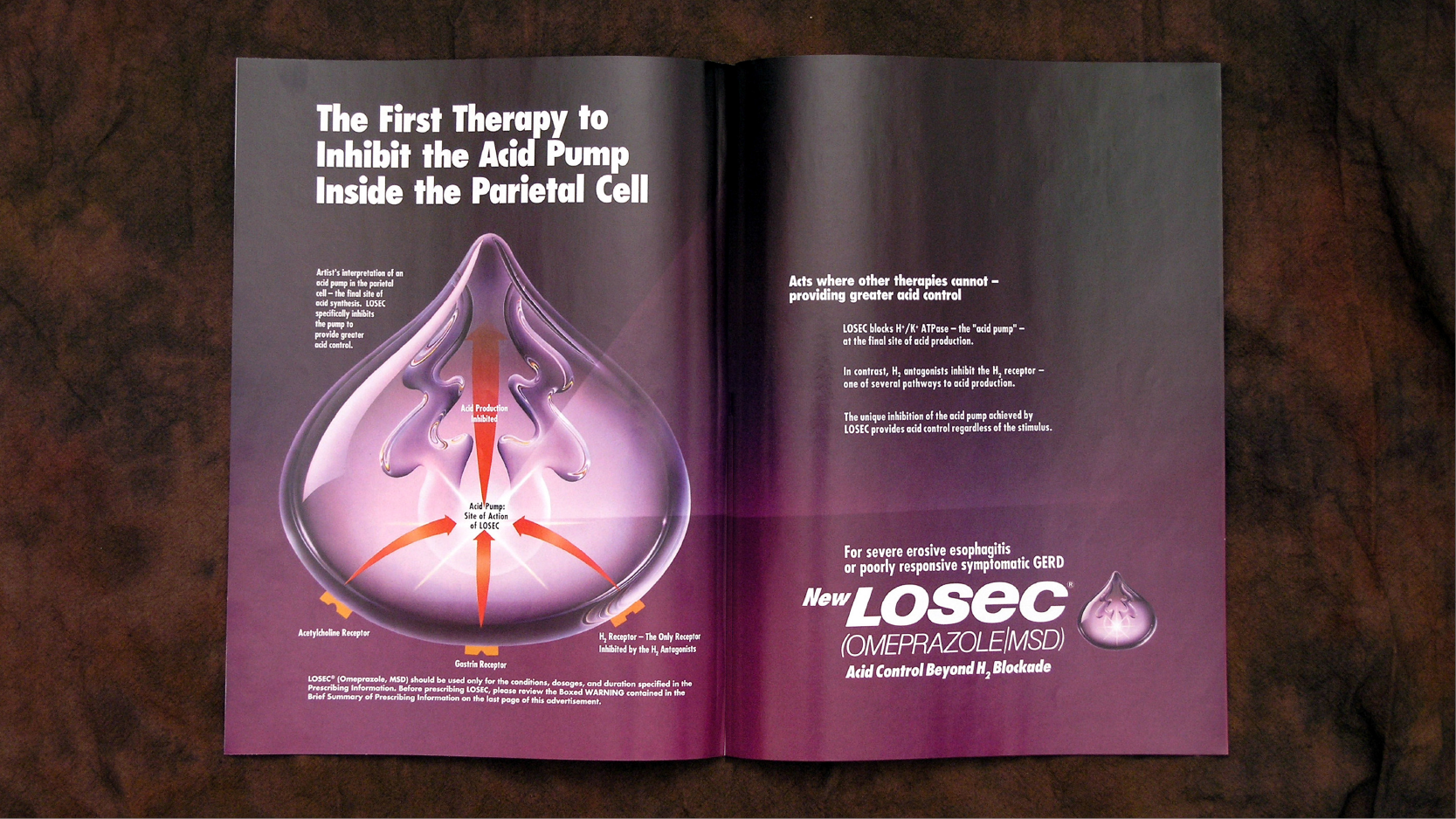 Merck Losec Launch Print Ad Spread