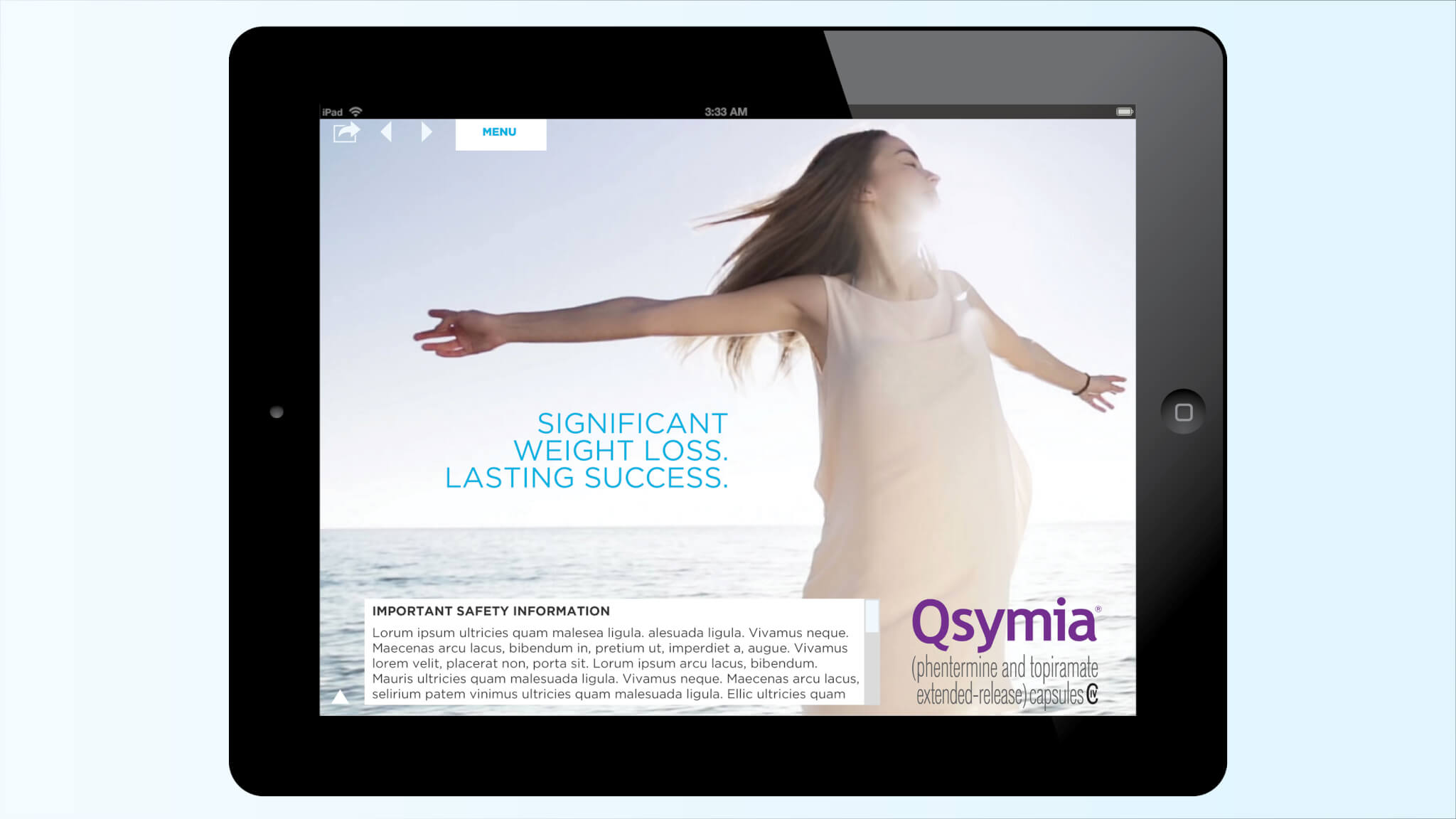 Qsymia Sales Aid Design Concept