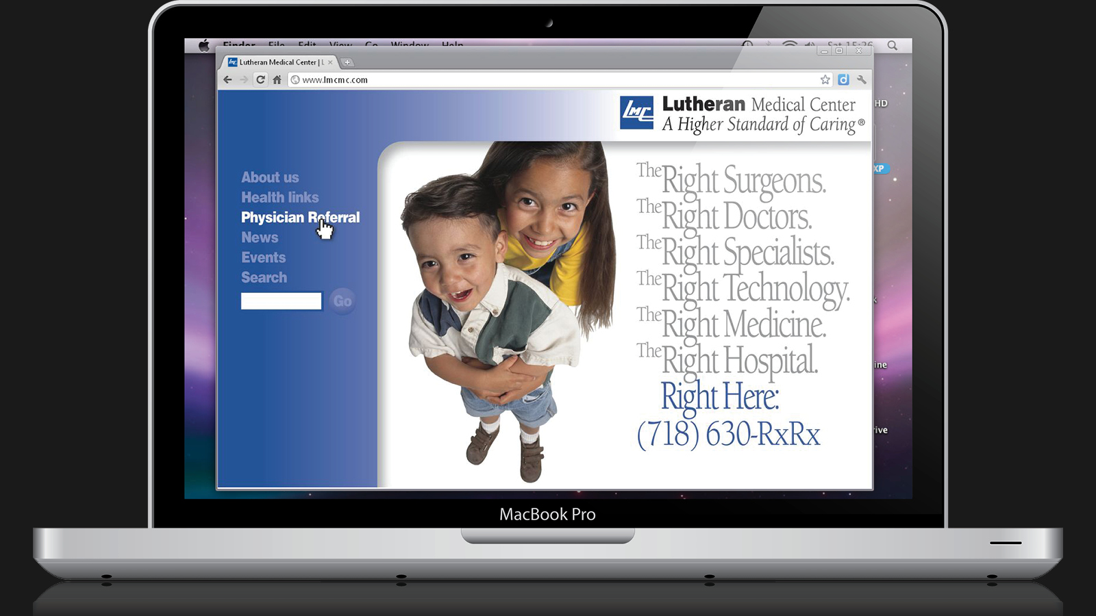 Lutheran Medical Center Web Site Design