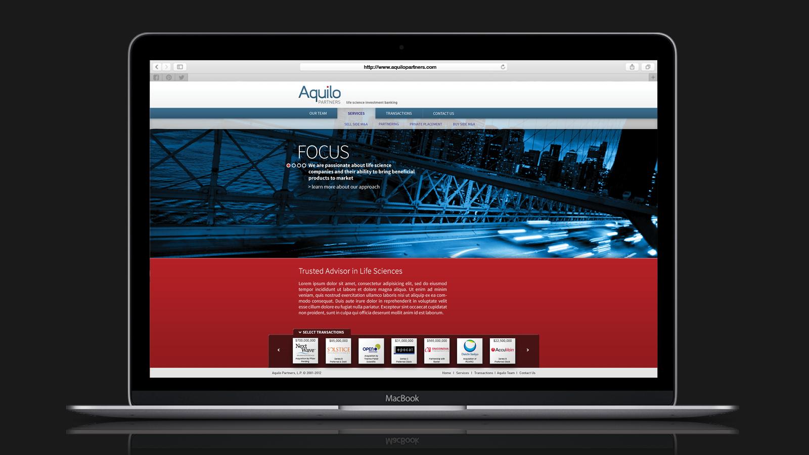 Aquilo Web Site Design