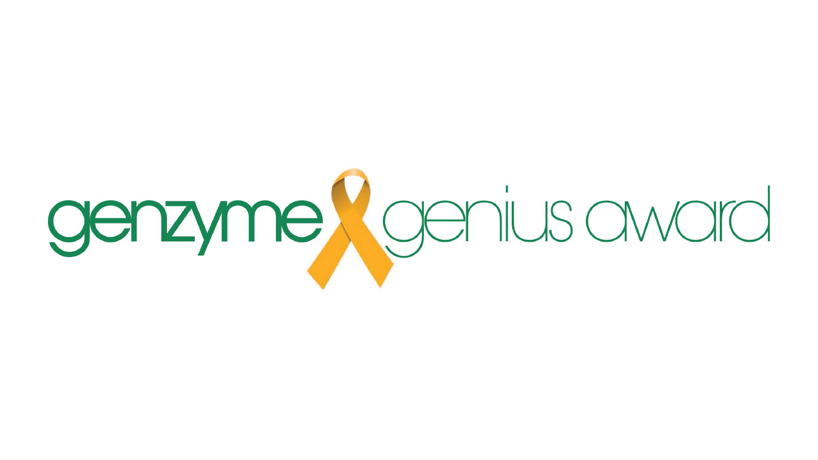 Genzyme Genius Award Ribbon Logo Alt
