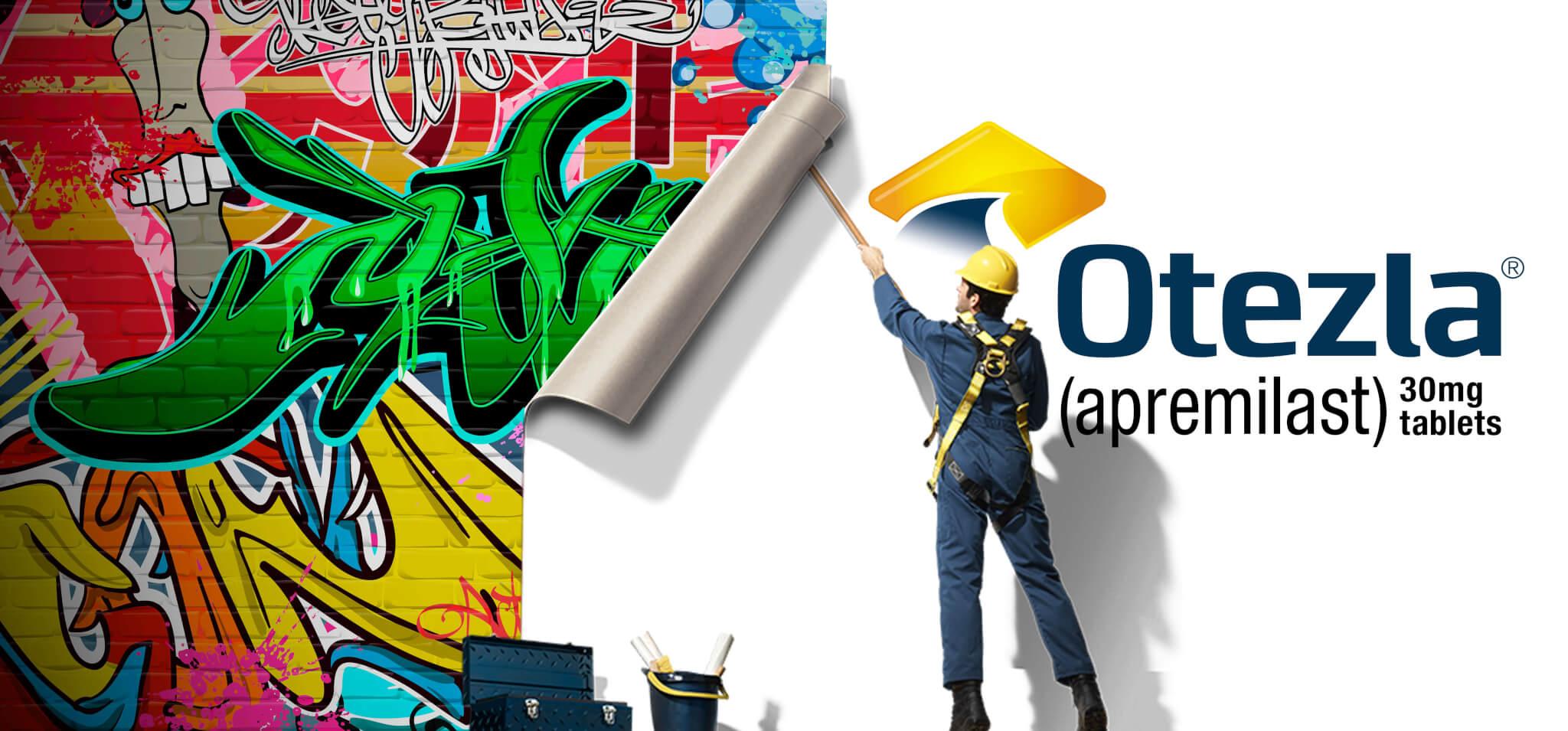 Otezla Graffitti Concept By Joe Tocci, Palio Creative Director