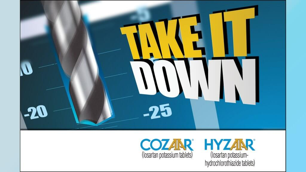 Cozaar Hyzaar Take It Down Ad Concept